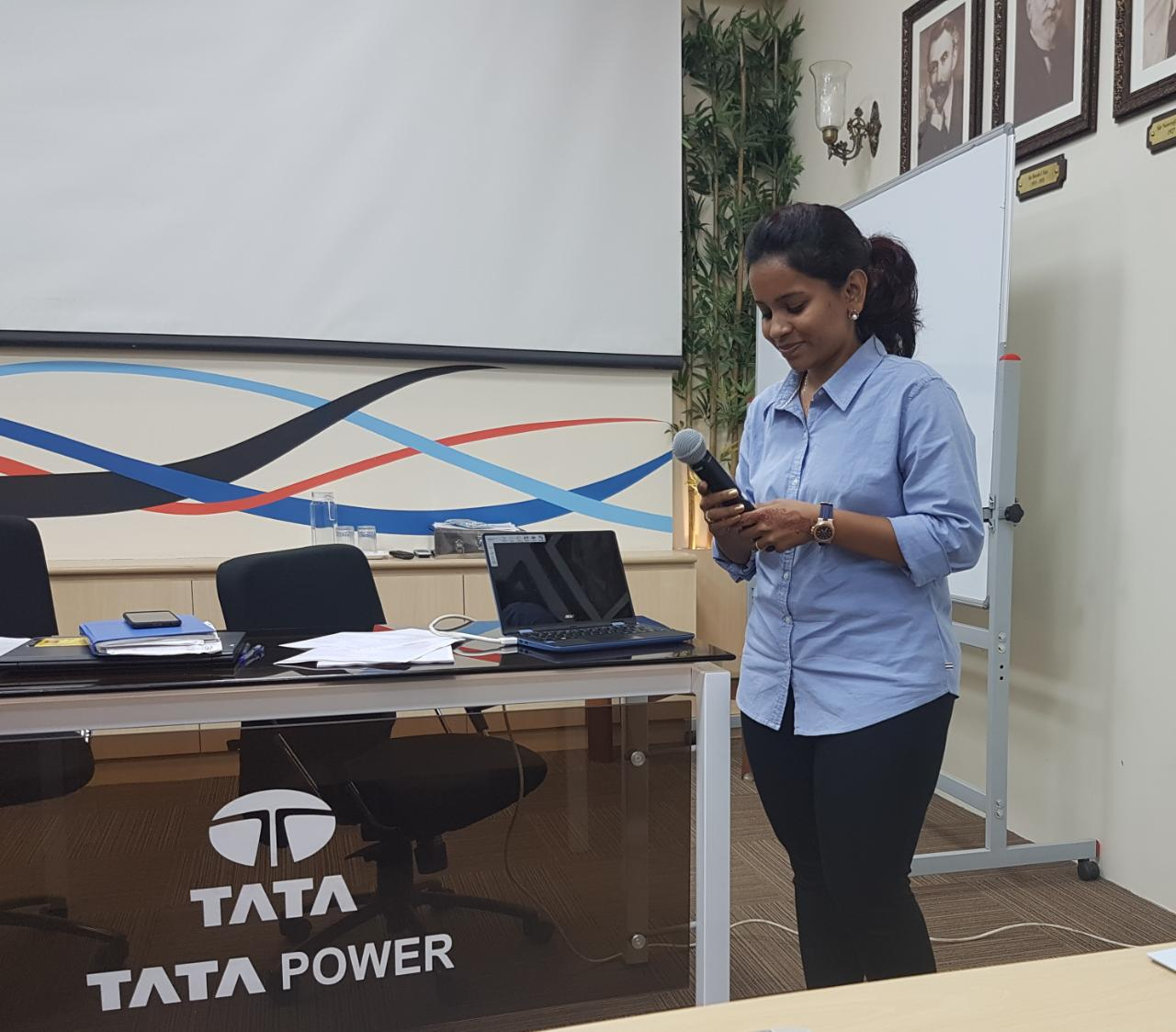 Awareness talk about bariatric surgery for the employees of Tata Power. Registered Dietician Mariam Lakdawala talking about nutritional tips for prevention of obesity especially for people who work in shifts.