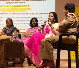 "Speaking about the journey as a woman surgeon in bariatric surgery at a Women's day event organized by Decimate Cancer at Maharshi Karve Educational Institute, Pune. ""Women must see their gender as an advantage and not a disadvantage. A lot can be accomplished just by changimg the mindset and providing opportunities""."