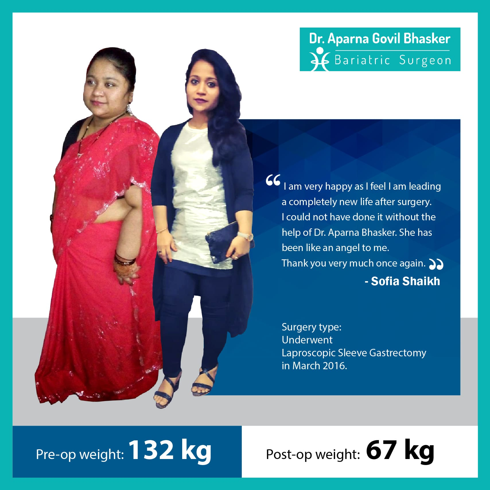 best Gastric Sleeve, Sleeve Gastronomy bariatric surgery and weight loss surgery cost in mumbai india before after photos (7)