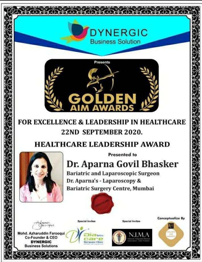 Healthcare Leadership Award 2020